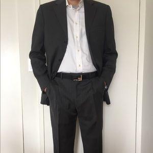 Stripes grey man suit